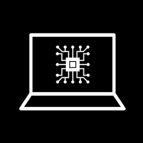 Computer Science icon (stylized computer)